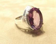 Load image into Gallery viewer, Amethys gemstone ring