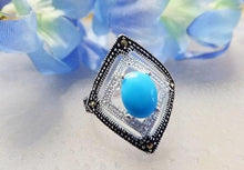 Load image into Gallery viewer, Turquoise gemstone ring