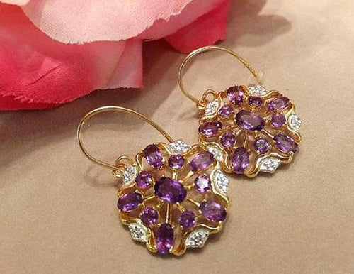 Golden Amethyst earrings