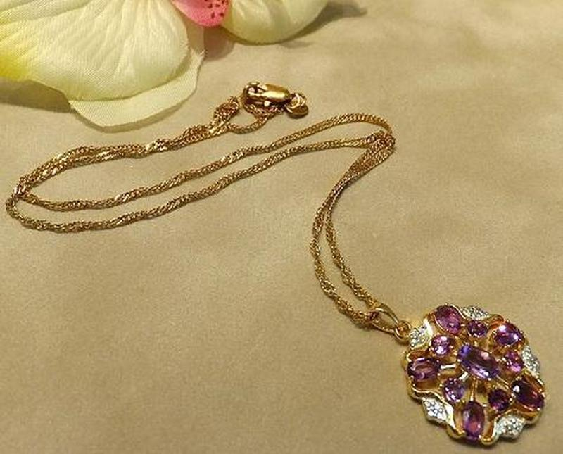 Golden amethyst necklace