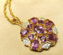 Load image into Gallery viewer, Golden amethyst necklace