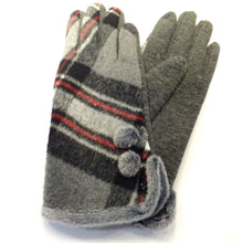 Load image into Gallery viewer, Red and grey ladies winter glove