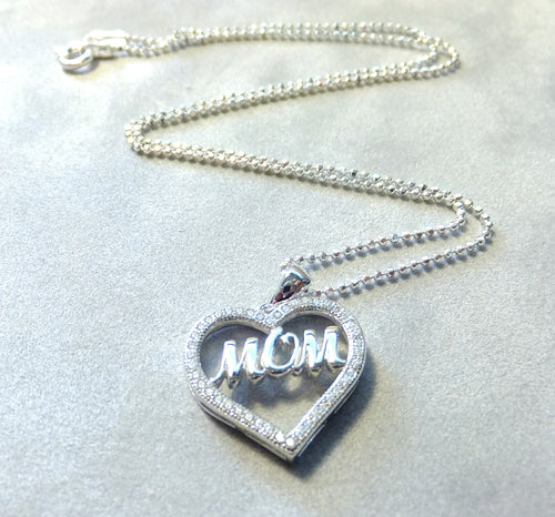 MOm Heart pendant in Sterling Silver