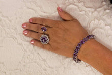 Load image into Gallery viewer, Amethyst tennis bracelet