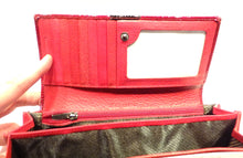 Load image into Gallery viewer, Patent red leather ladies wallet