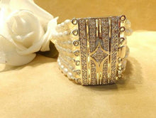 Load image into Gallery viewer, Pearl cuff bracelet