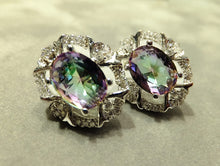 Load image into Gallery viewer, Mystic topaz stud earrings