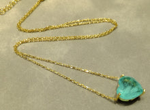 Load image into Gallery viewer, Heart Paraiba tourmaline pendant necklace