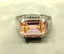 Load image into Gallery viewer, Pink zircon gemstone ring