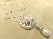 Load image into Gallery viewer, white pearl necklace