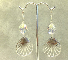 Load image into Gallery viewer, Sterling silver and Swarovski crystal earrings