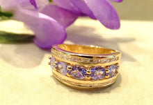 Load image into Gallery viewer, Gold and tanzanite ring