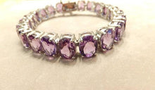 Load image into Gallery viewer, Amethyst gemstone bracelet in sterling silver. - butlercollection