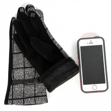 Load image into Gallery viewer, Black and white winter fashion glove