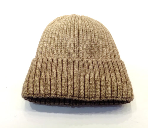 brown knit winter hat