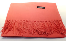 Load image into Gallery viewer, coral cashmere scarf
