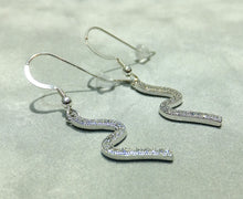 Load image into Gallery viewer, Sterling silver and crystal earrings