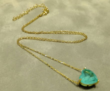 Load image into Gallery viewer, Golden heart Paraiba Tourmaline necklace