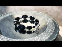 Load and play video in Gallery viewer, Black Onyx and Crystal Bracelet