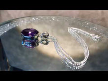 Load and play video in Gallery viewer, Amethyst gemstone pendant  necklace