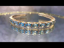 Load and play video in Gallery viewer, Blue topaz bracelet