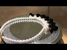 Load and play video in Gallery viewer, Black onyx and white pearl drop necklace