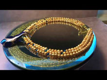 Load and play video in Gallery viewer, Golden freshwater pearl necklace with pendant