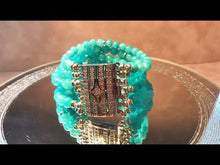 Load and play video in Gallery viewer, Blue quartz gemstone cuff bracelet