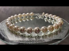 Load and play video in Gallery viewer, Video of white beaded Mother Of pearl necklace