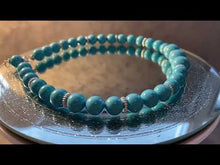 Load and play video in Gallery viewer, Video of Turquoise agate necklace