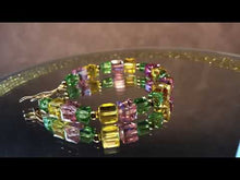 Load and play video in Gallery viewer, Swarovski crystal bracelet