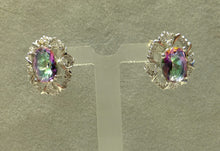 Load image into Gallery viewer, Stud mystic topaz earrings