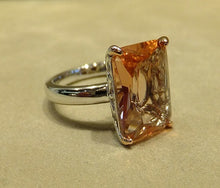Load image into Gallery viewer, side view of morganite gemstone ring