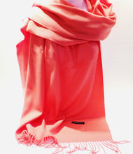 Load image into Gallery viewer, pink coral cashmere scarf for women