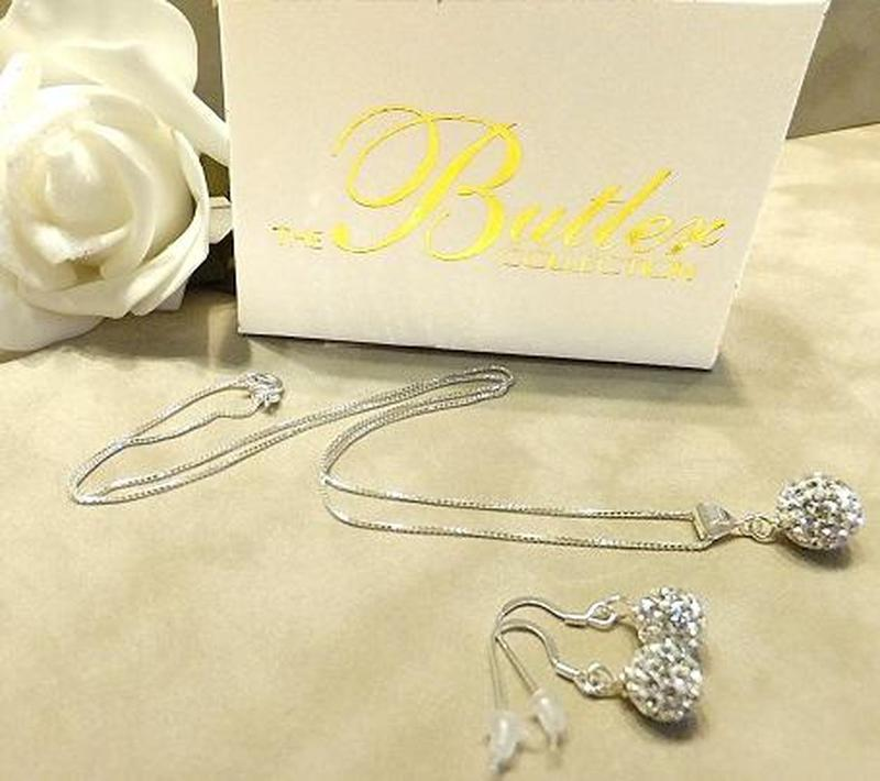 Sparkling ball jewelry gifts sets in sterling silver