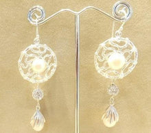 Load image into Gallery viewer, white pearl earrings