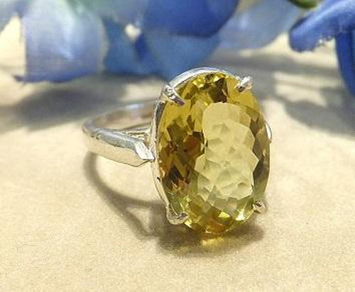 Citrine gemstone ring