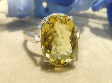 Load image into Gallery viewer, Citrine Gemstone Ring in Sterling Silver - butlercollection