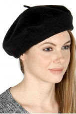 Black knit tam hat