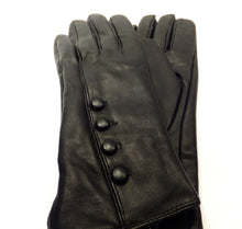 Load image into Gallery viewer, black leather ladies gloves