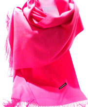 Load image into Gallery viewer, fuchsia cashmere scarf for women