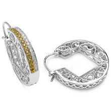 Load image into Gallery viewer, diamond hoop earrings