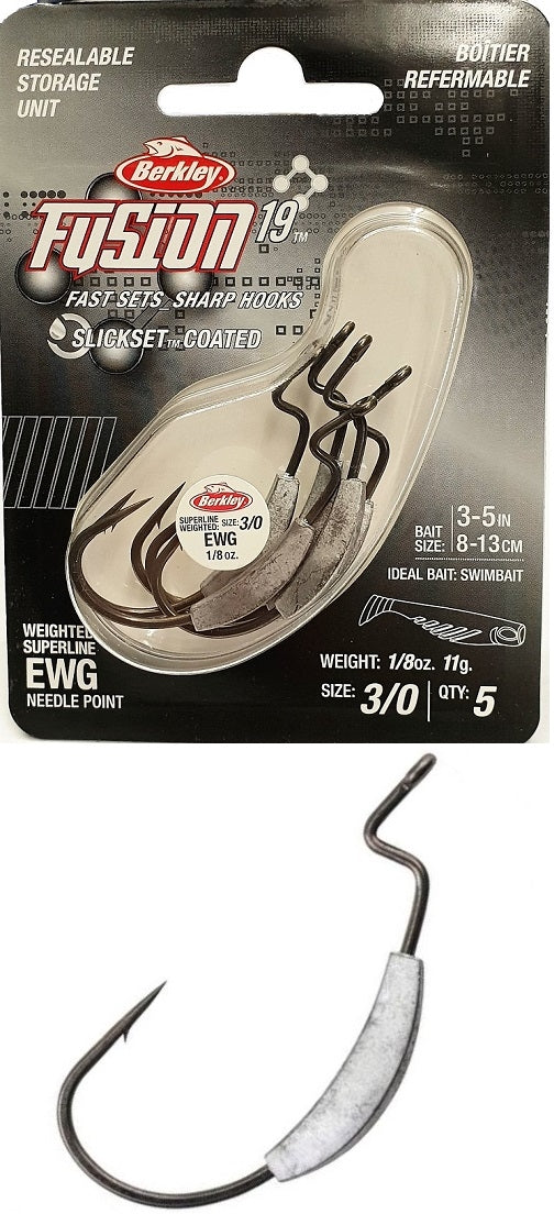 Berkley Fusion19 Weighted EWG Hooks 3/0
