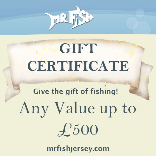 Fishing Gear Gift Certificate from Mr Fish in Jersey