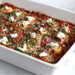 Spinach and Mushroom Ravioli with Pomodoro and Feta