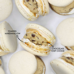 S'mores and Chocolate Chip Cookie Chunky Macaron