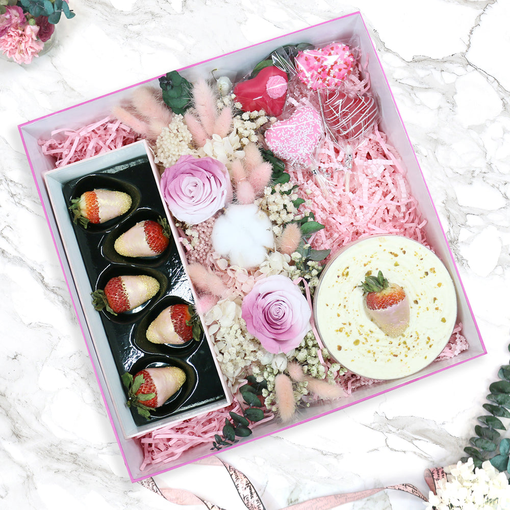Desired Love Box with Forever Flowers