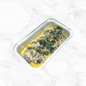 Sole with Spinach and Mushrooms