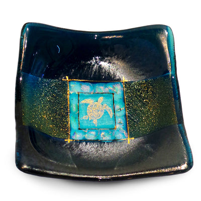 Jewelry Bowl With Turtle, Blue