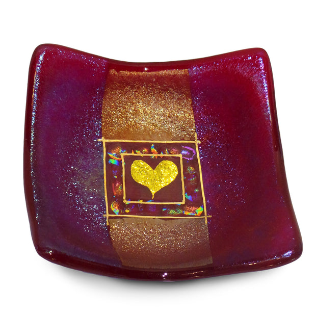 Jewelry Bowl With Heart, Red